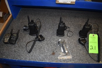 (3) Motorola & (2) Midland walkie talkies