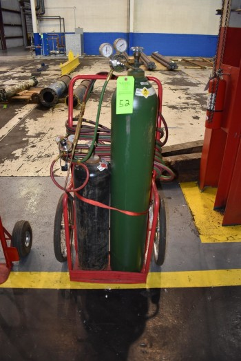 Torch Cart w/ Gages, Hose & Torch (NO TANKS)