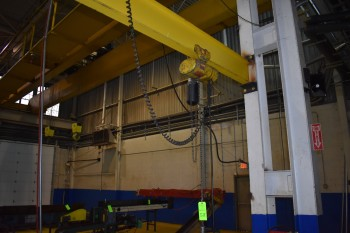 1/2 Ton C&M Powered Hoist w/ Pendant Control