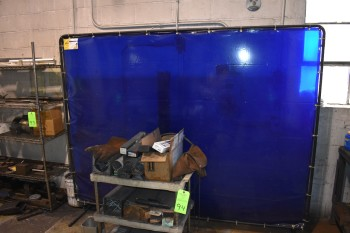 Plastic Cart w/ Welding Rod & Welding Screen, Gloves