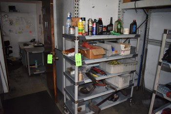 Portable Shelving unit w/ Contents