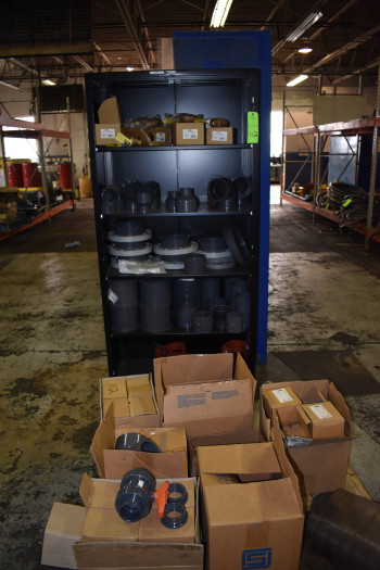 Metal Shelving Unit w/ Parts, New PVC and Brass Valves