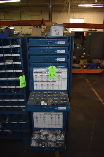 Barnes Group Metal Shelving w/Rack & Contents