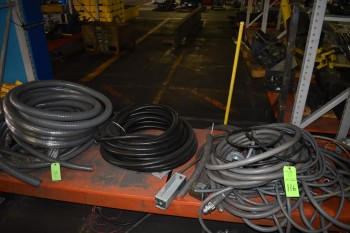 Lot of Electrical Parts, Flexible Conduit, Spools of Wire