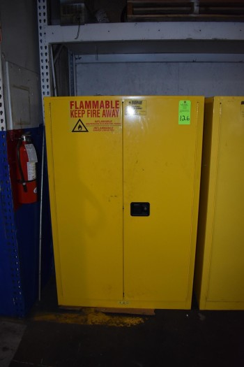 Duram Flammable Liquid Storage Cabinet w/contents