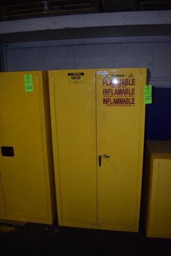 JustRite Flammable Liquid Storage Cabinet w/contents