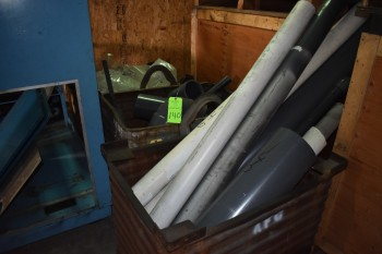 Lot of (3) Metal Bins & Contents