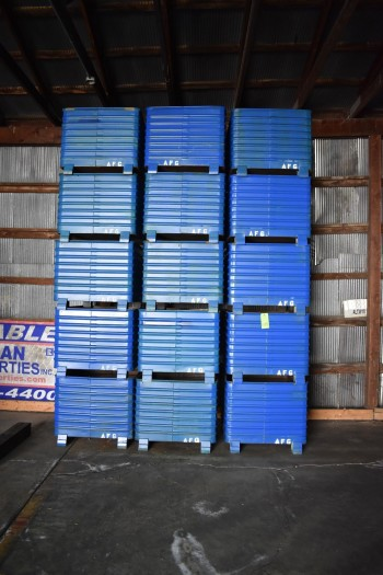 Lot of (15) Steel Totes 32\