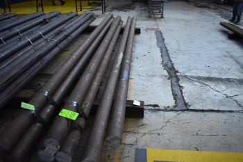 Lot (8) solid steel Bar. 5.5\