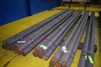 Lot of (22) Pieces of Solid Steel Bar, 5.5\
