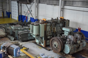 3000 ton Aida model FMX-L2-(2)-221-135, LInk Motion 2 point Mechanical press