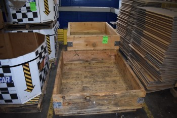 Lot of (3) Heavy Duty Wood Crates, 42\