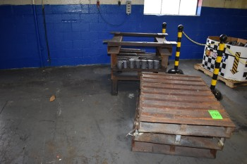 Steel Pallet Totes w/ Misc. Scrap Steel