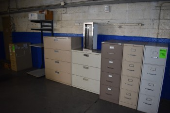 Lot of Steel File Cabinets