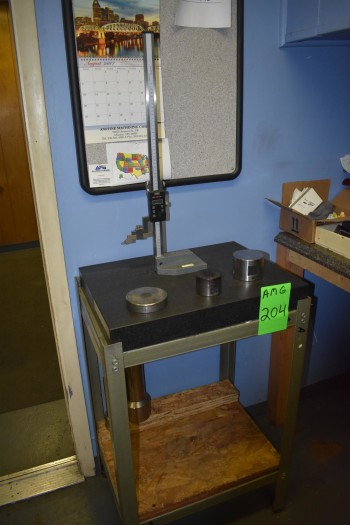 Granite Surface Plate & Stand, 18