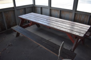(2) Wood Picnic Tables