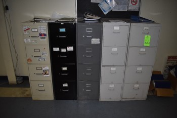 (5) Vertical Filing Cabinets