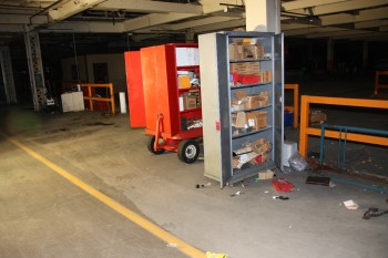 Fire wagon, 2 cabinet, locker misc. stand