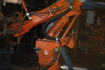 6 Count of --   ABB IRB 6400 Industrial Robots with Welder