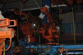 8 Count of --   ABB IRB 6400 Industrial Robots with Welder