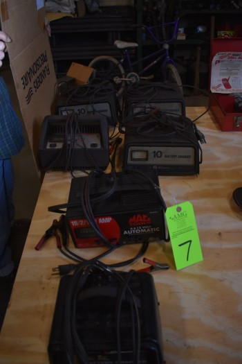 Lot of (6) Battery Chargers