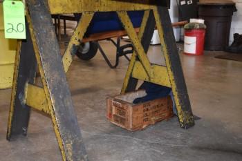 Set of Steel Saw Horses, 3'x 32