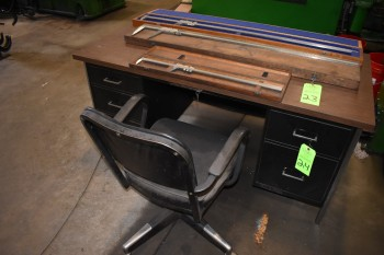 Metal Desk & Chair