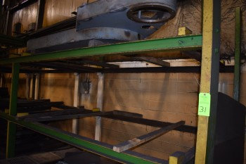 (3) sections of Heavy Duty I-Beam Racking w/contents