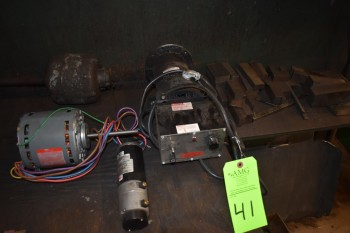 Lot of Small Electrical Motors & Steel blocks