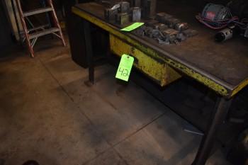 Metal Table w/ Wood top 5'x 3'x 34