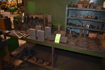 Lot of Steel, various sized Angle Plates, Bar Fixtures