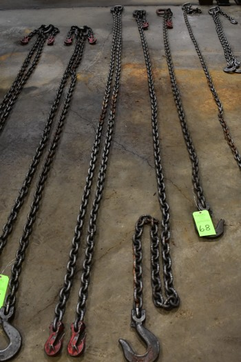 Lot of (3) Lifting Chains