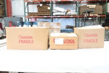 LOT OF 3 ASSORTED QUALITROL OIL FLOW INDICATORS