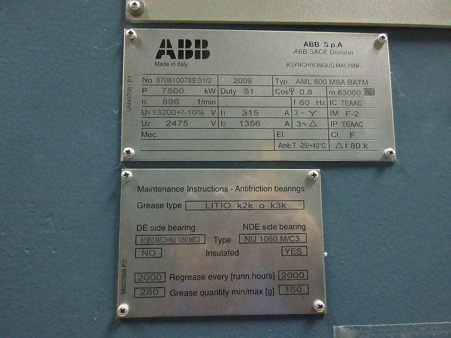 NEW UNUSED SURPLUS ABB Wound Rotor (Slip-Ring) A-C Motors ABB SACE Division